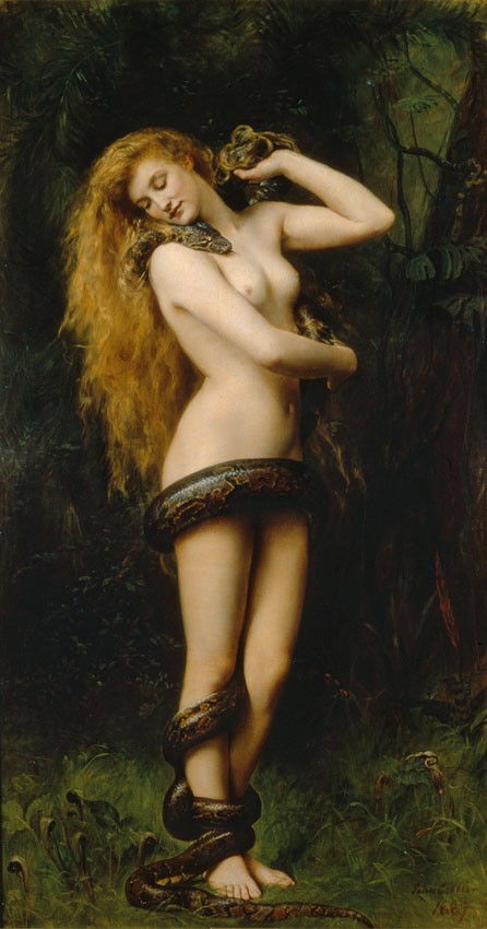 Picture Of Lilith By John Collier 1892