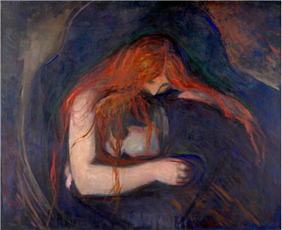 Picture Of Vampyren The Vampire By Edvard Munch
